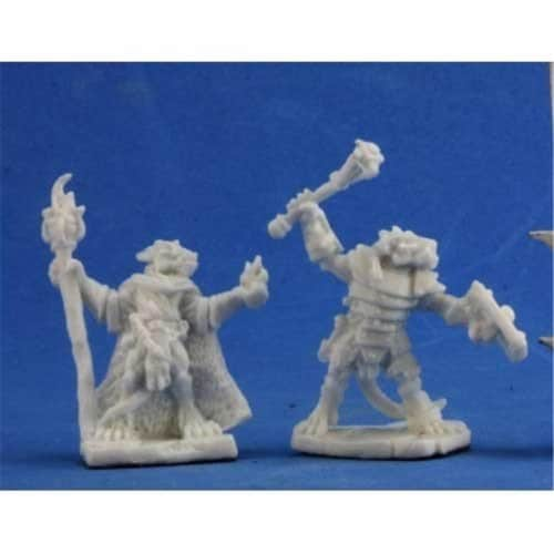 Reaper Miniatures REM77350 Bones-Kobold Leaders 2 Perspective: front