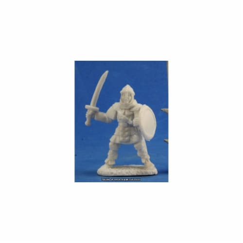 Reaper Miniatures REM77356 25mm Scale Anhurian Swordsman, Jim Johnson - Pack of 3 Perspective: front