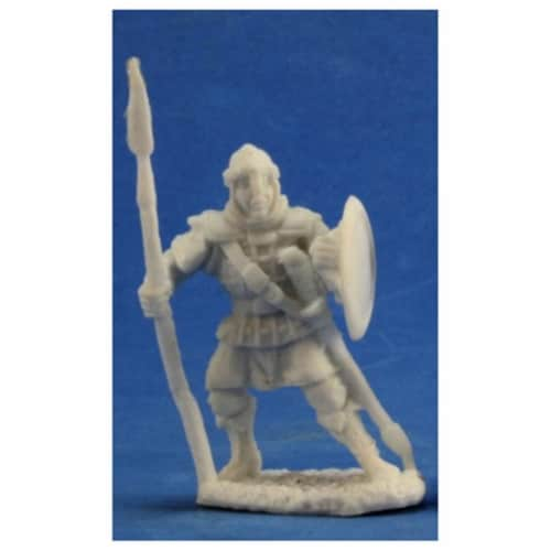 Reaper Miniatures REM77359 Bones Anhurian Spearman Miniatures - Set of 3 Perspective: front