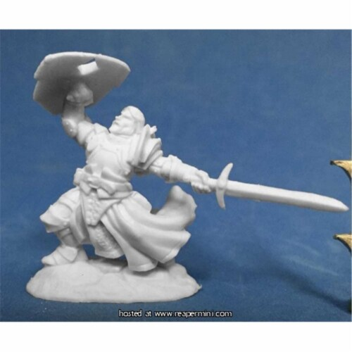 Reaper Miniatures REM77385 25mm Sir Rathan Kranzhel, Human Fighter - Bobby Jackson Perspective: front