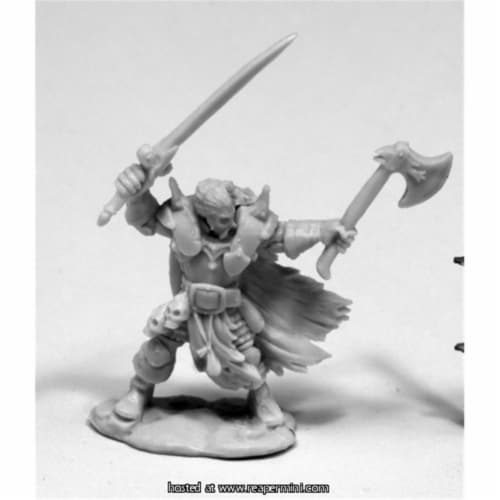 Reaper Miniatures REM77406 25mm Scale Boris Mingla, Evil Warlord - Bobby Jackson Perspective: front