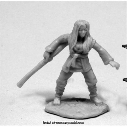Reaper Miniatures REM77418 25mm Scale Xiao Liu, Female Monk - James Van Schaik Perspective: front
