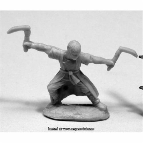 Reaper Miniatures REM77421 25mm Scale Jade Tiger, Monk - James Van Schaik Perspective: front