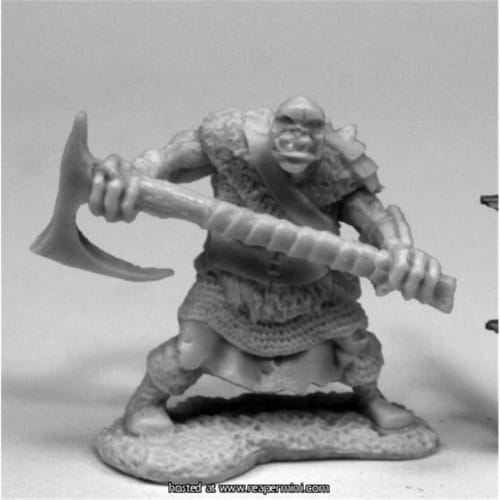 Reaper Miniatures REM77431 25mm Scale Orc Chopper, 2H Axe Perspective: front