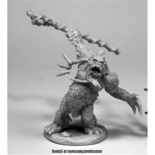 Reaper Miniatures REM77433 25mm Scale Yeti Shaman Perspective: front