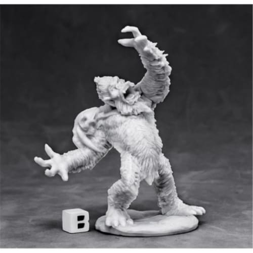 Reaper Miniatures REM77434 Bones - Dark Heaven Bones Yeti Chieftain W3 Perspective: front