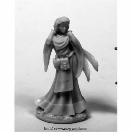 Reaper Miniatures REM77441 25mm Scale Ostarzha, Elf Cleric - Bobby Jackson Perspective: front