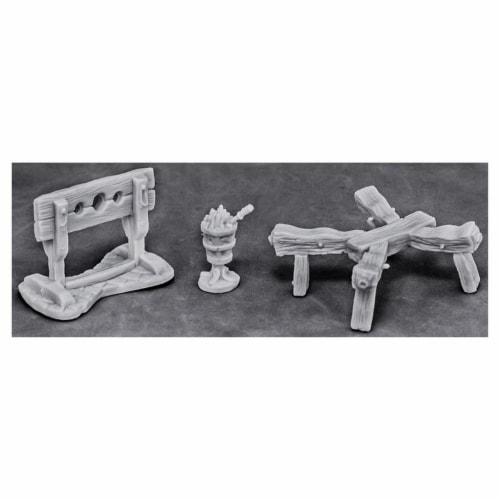 Reaper Miniatures REM77442 Bones - Torture Equipment 1 W3 Reaper Miniatures Perspective: front