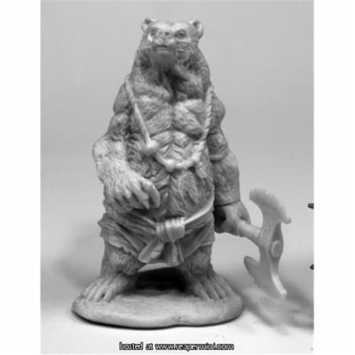 Reaper Miniatures REM77446 25mm Scale Werebear - James Van Schaik Perspective: front