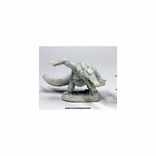 Reaper Miniatures REM77447 25mm Scale Werecrocodile - James Van Schaik Perspective: front
