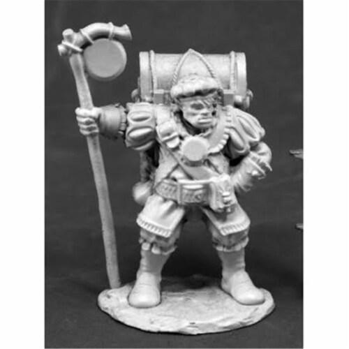 Reaper Miniatures REM77458 25mm Scale Dark Heaven Legends Bones, HalfOrc Merchant Perspective: front