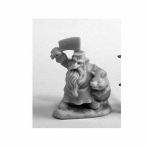 Reaper Miniatures REM77460 Bones Dwarven Butcher Miniature Figure Perspective: front