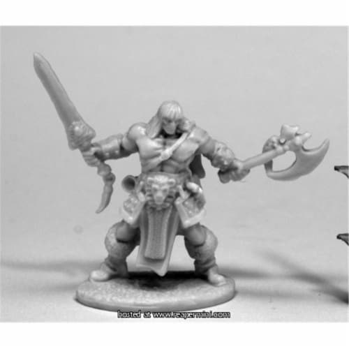 Reaper Miniatures REM77469 25mm Scale Brand Oathblood, Barbarian - Bobby Jackson Perspective: front
