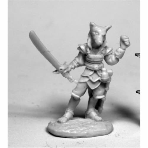 Reaper Miniatures REM77473 28 mm Dark Heaven Bones Kogo, Male Kitsune W3 Pack Mint of Miniatu Perspective: front