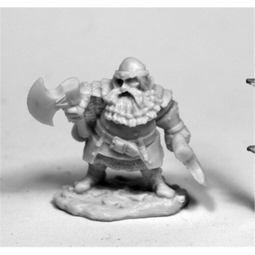 Reaper Miniatures REM77482 28 mm Dark Heaven Bones Hagar, Dwarven Hero W3 Pack Mint of Miniat Perspective: front