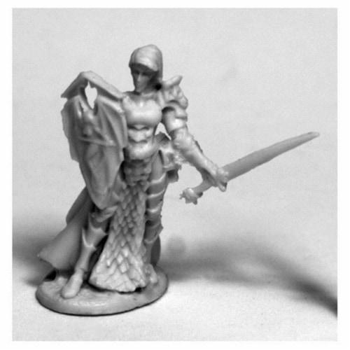 Reaper Miniatures REM77490 28 mm Dark Heaven Bones Mara Frostblade, Antipaladin W3 Pack Mint Perspective: front