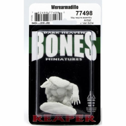Reaper Miniatures REM77498 28 mm Dark Heaven Bones Werearmadillo W3 Pack Mint of Miniature Ga Perspective: front