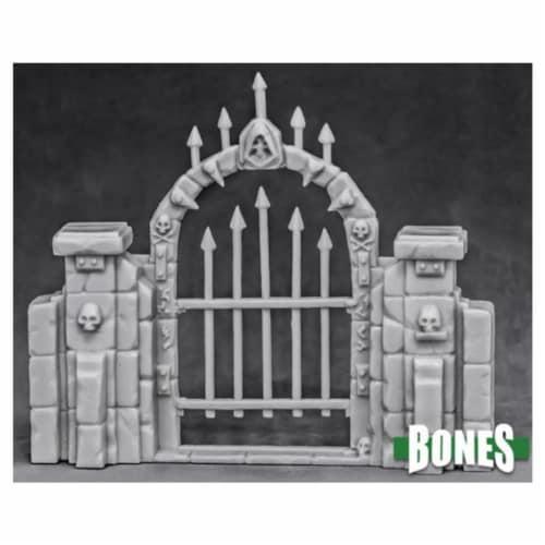 Reaper Miniatures REM77527 Bones - Graveyard Fence Gate Miniatures Perspective: front