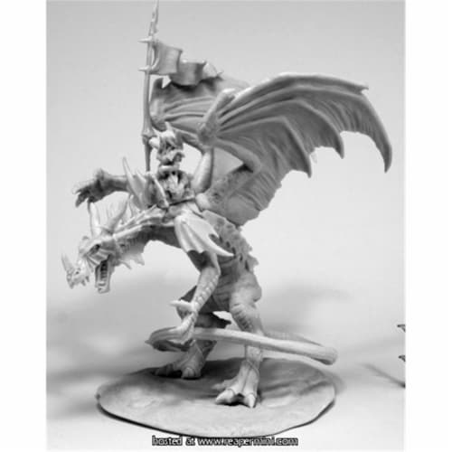 Reaper Miniatures REM77557 25mm Scale Kyra & Lavarath, Dragon & Rider Perspective: front
