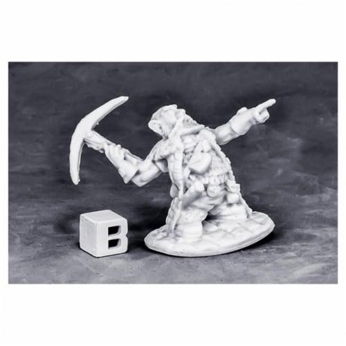 Reaper Miniatures REM77572 Bones Dwarf Master Of the Hunt W3 Miniatures Perspective: front