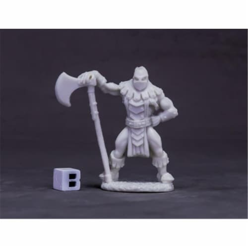 Reaper Miniatures REM77620 Bones Dark Heaven - Logar the Executioner W3 Perspective: front