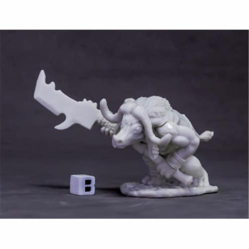 Reaper Miniatures REM77621 Bones Dark Heaven - Avatar of Protection, Water Buffalo W3 Perspective: front