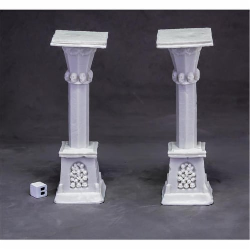Reaper Miniatures REM77638 Bones Dark Heaven - Graveyard Column W3 X2 Perspective: front
