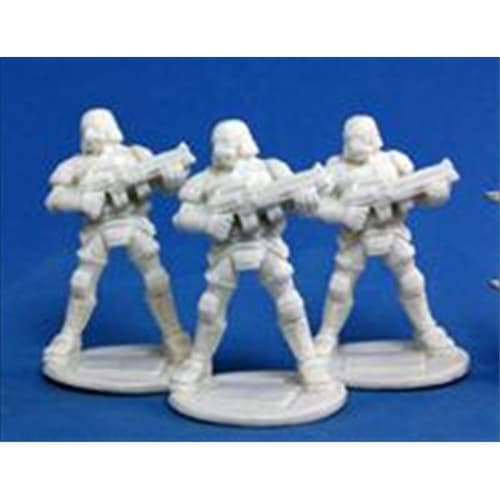 Reaper Miniatures 80012 Bones - Chrono Nova Corp Soldier 3 Miniature Perspective: front
