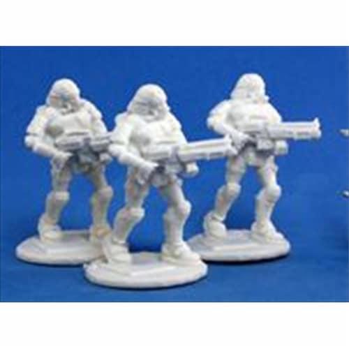 Reaper Miniatures 80015 Bones - Chrono Nova Corp Rifleman 3 Miniature Perspective: front