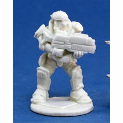 Reaper Miniatures 80019 Bones - Chrono Imef Jazz Jenkins 1 Miniature Perspective: front