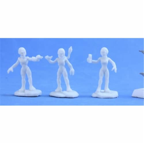 Reaper Miniatures REM80045 Bones Chronoscope Gray Alien Scientist Sprue Miniature Reaper Perspective: front