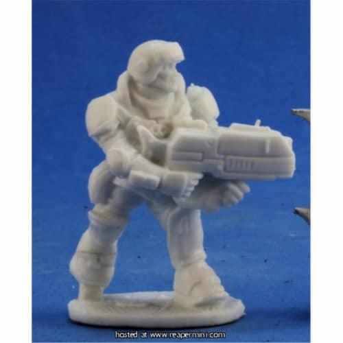 Reaper Miniatures REM80048 25mm Scale Aztec IMEF Trooper, Bobby Jackson - Bones & Chronoscope Perspective: front