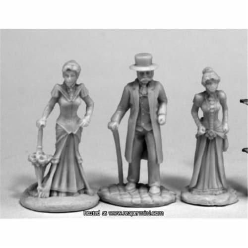 Reaper Miniatures REM80068 25mm Scale Victorians, Bob Ridolfi - Bones & Chronoscope Perspective: front