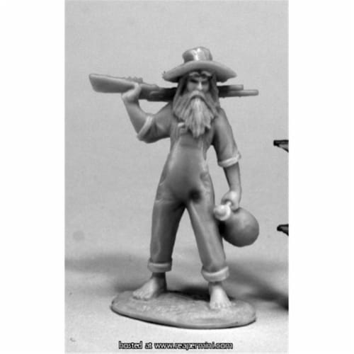 Reaper Miniatures REM80071 25mm Scale Hillbilly, Bob Ridolfi - Bones & Chronoscope Perspective: front
