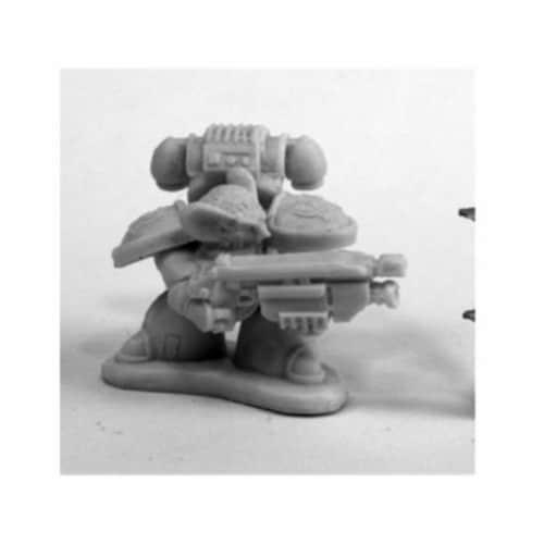 Reaper Miniatures REM80082 Bones Chronoscope Space Mousling Look Miniature Figure, Left Perspective: front