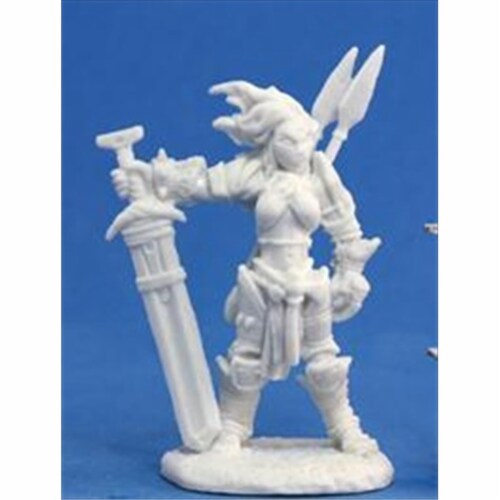 Reaper Miniatures 89005 Bones - Path Finder Amiri, Iconic Barbarian Miniature Perspective: front