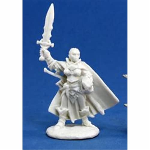 Reaper Miniatures 89011 Bones - Path Finder Seelah, Iconic Paladin Miniature Perspective: front