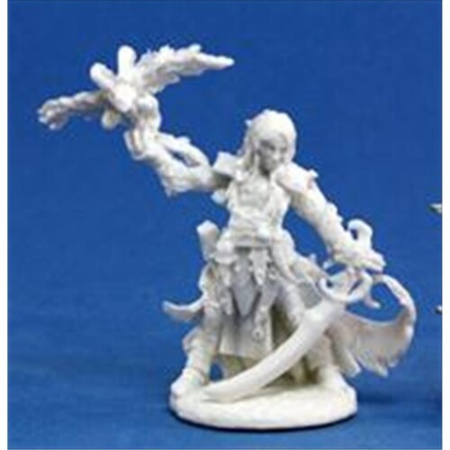 Reaper Miniatures 89014 Bonest50 - Path Finder Seltyiel Iconic Magus Miniature Perspective: front