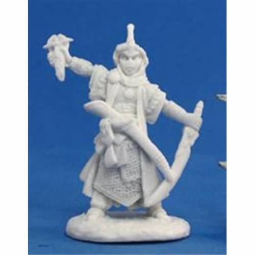 Reaper Miniatures 89015 Bones - Path Finder Kyra, Iconic Cleric Miniature Perspective: front