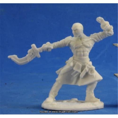 Reaper Miniatures REM89018 25mm Scale Sajan Iconic Monk, Gene Van Horne - Pathfinder Bones Perspective: front