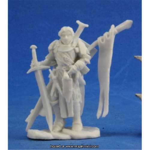 Reaper Miniatures REM89025 25mm Scale Alain, Bobby Jackson - Pathfinder Bones Perspective: front