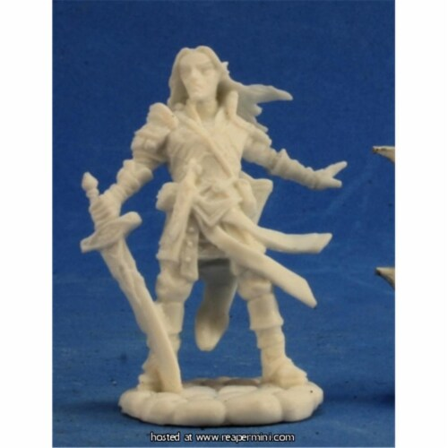 Reaper Miniatures REM89028 25mm Scale Lini Iconic Gnome Druid, Derek Schubert - Pathfinder Bo Perspective: front