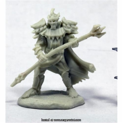 Reaper Miniatures REM89043 25mm Scale Vagorg Half Orc Sorcerer, Chris Lewis - Pathfinder Bone Perspective: front