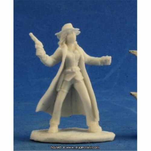 Reaper Miniatures REM91004 25mm Scale Texas Ranger Female, Bob Ridolfl - Savage Worlds & Bone Perspective: front