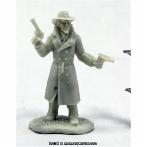 Reaper Miniatures REM91009 25mm Scale Deadlands Noir Stone, Bob Ridolfi - Savage Worlds & Bon Perspective: front