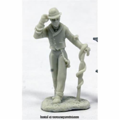Reaper Miniatures REM91010 25mm Scale Deadlands Noir Houngan, Bob Ridolfi - Savage Worlds & B Perspective: front