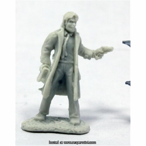Reaper Miniatures REM91013 25mm Scale Deadlands Noir Occult Detective, Bob Ridolfi - Savage W Perspective: front