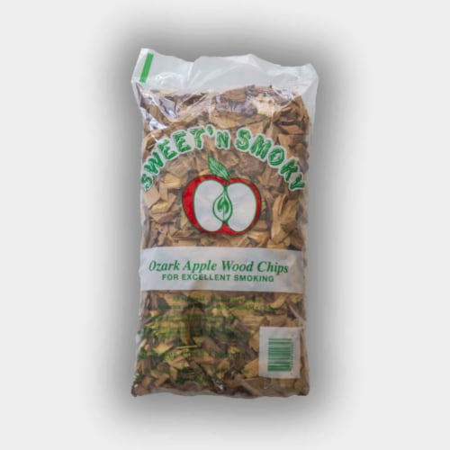 Chigger Creek Sweet 'N Smoky All Natural Ozark Apple Wood Smoking Chips 200 cu. in. - Case Perspective: front