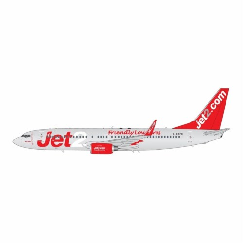 Gemini200 G2EXS463 Jet2 Boeing 737-800 Winglets G-GDFR Friendly Low Fares Scale 1-200 Diecast Perspective: front