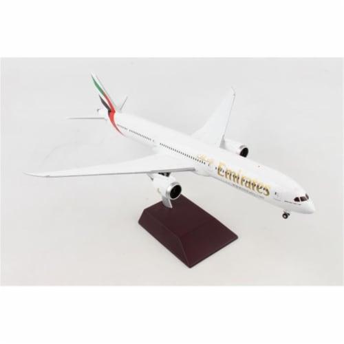 Gemini200 G2UAE740 Emirates 787-10 1-200 Diecast Airplane Model Perspective: front